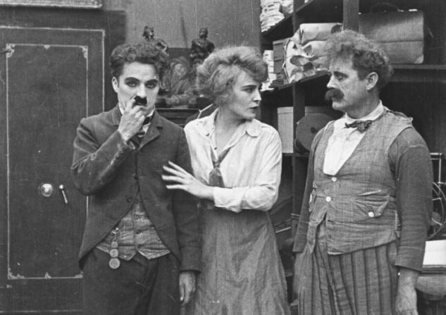 Charles Chaplin, Edna Purviance, John Rand