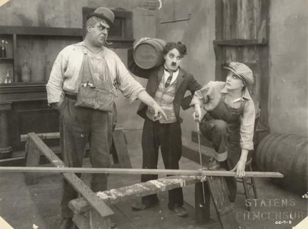 Eric Campbell, Charles Chaplin, Edna Purviance