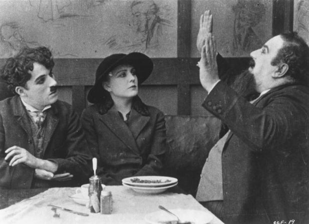 Charles Chaplin, Edna Purviance, Henry Bergman