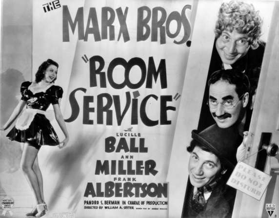 Ann Miller, Groucho Marx, Chico Marx, Harpo Marx