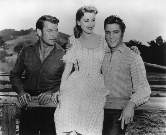 Richard Egan, Debra Paget, Elvis Presley