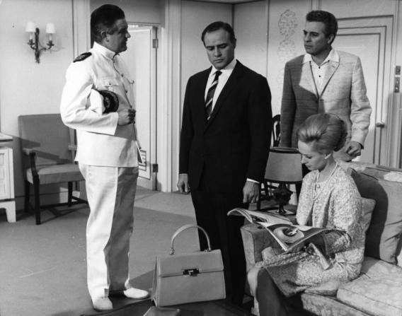 John Paul, Marlon Brando, Sydney Chaplin, Tippi Hedren