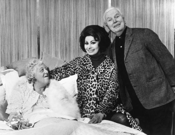 Margaret Rutherford, Sophia Loren, Charles Chaplin