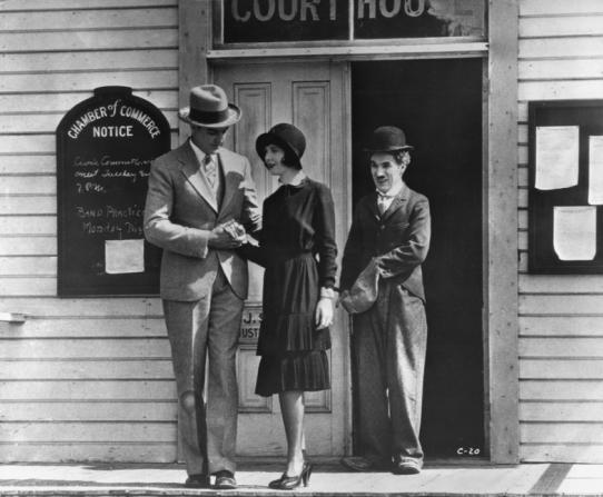 Harry Crocker, Merna Kennedy, Charles Chaplin