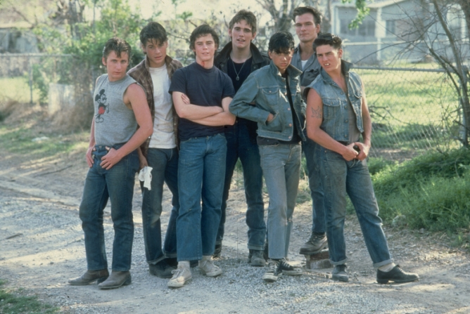 Emilio Estevez, Rob Lowe, Matt Dillon, Ralph Macchio, Patrick Swayze, Tom Cruise
