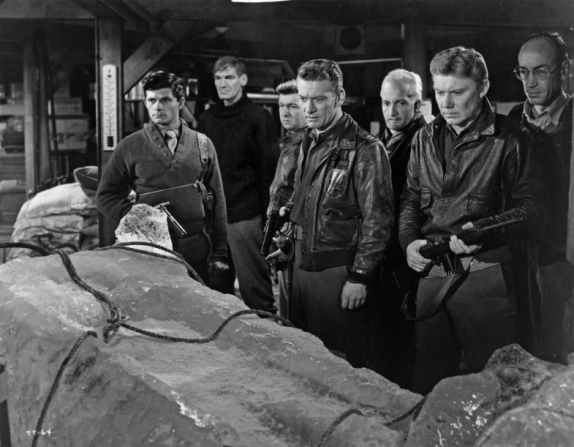 Dewey Martin, John Dierkes, Robert Nichols, Kenneth Tobey, Robert Cornthwaite, James Young, Douglas Spencer