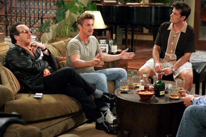 Charlie Sheen, Sean Penn, Elvis Costello