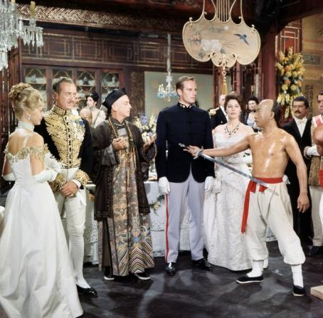 David Niven, Charlton Heston, Ava Gardner, Robert Helpmann