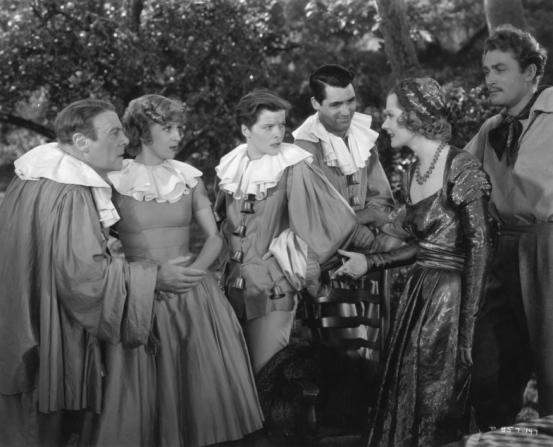 Katharine Hepburn, Cary Grant, Nathalie Paley, Brian Aherne, Edmund Gwenn, Dennie Moore