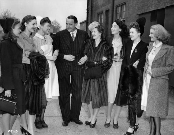 J. Arthur Rank, Jean Simmons, Valerie Hobson, Rosamund John, Patricia Roc, Judy Campbell, Jean Kent