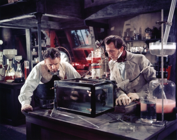 Robert Urquhart, Peter Cushing