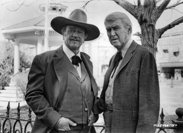 John Wayne, James Stewart
