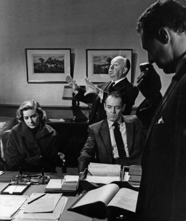 Vera Miles, Henry Fonda, Alfred Hitchcock, Anthony Quayle