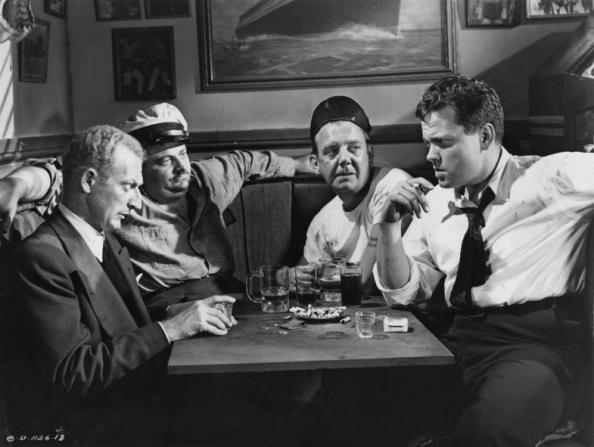 Everett Sloane, Gus Schilling, Orson Welles