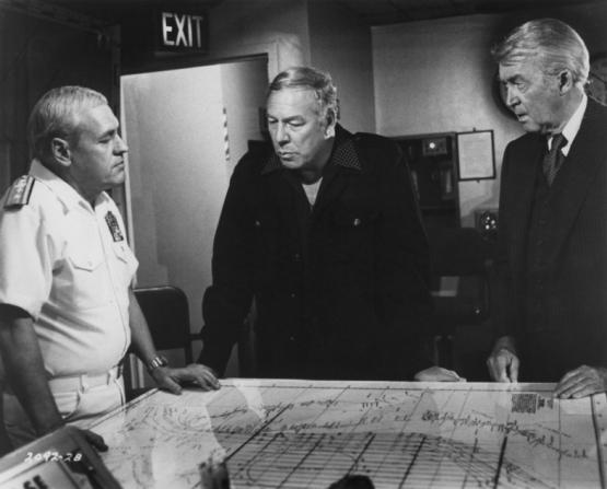 James Stewart, George Kennedy