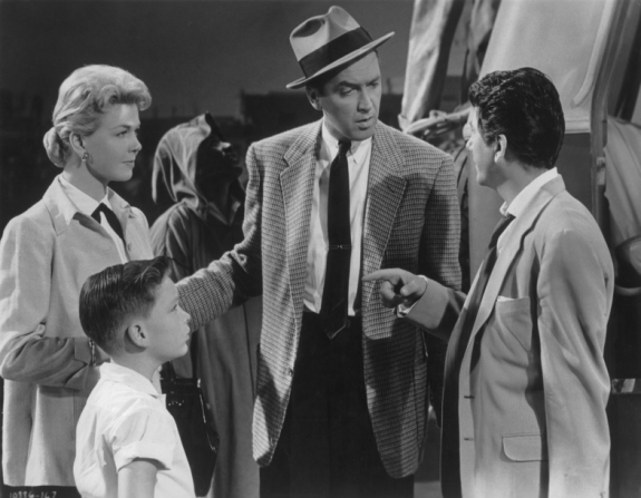 James Stewart, Doris Day, Daniel Gélin, Christopher Olsen