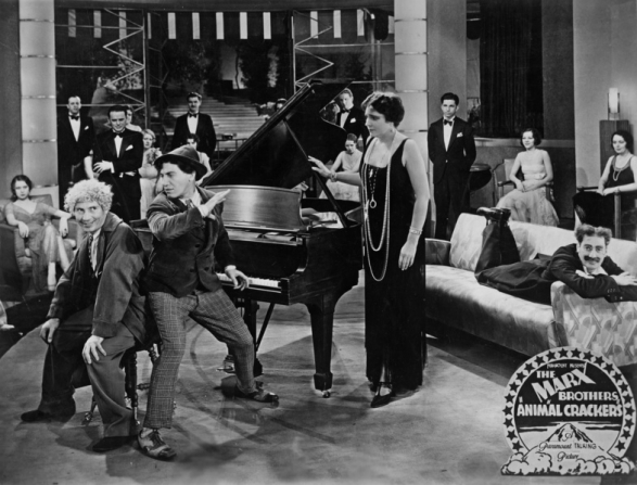 Harpo Marx, Chico Marx, Groucho Marx, Margaret Dumont