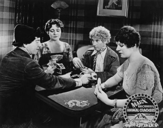 Chico Marx, Margaret Dumont, Harpo Marx