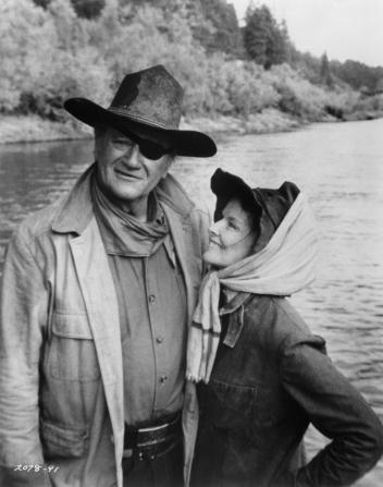 Katharine Hepburn, John Wayne
