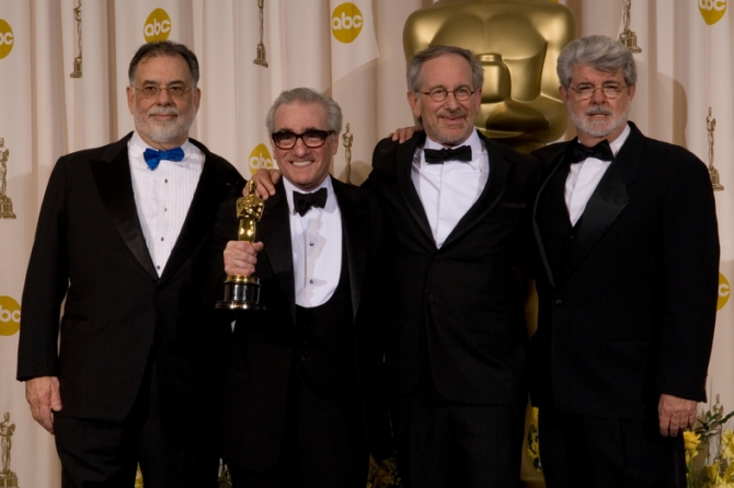 Martin Scorsese, Francis Ford Coppola, Steven Spielberg, George Lucas