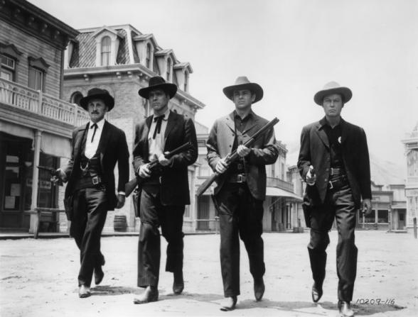 Kirk Douglas, Burt Lancaster, DeForest Kelley