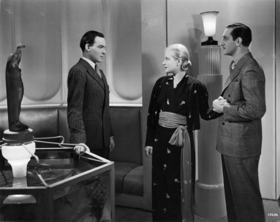 Bruce Seton, Ann Harding, Basil Rathbone
