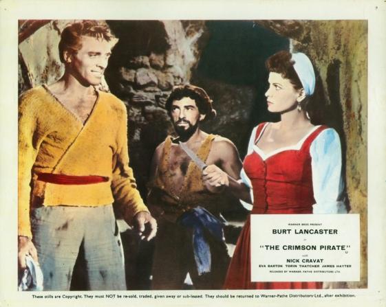 Burt Lancaster, Nick Cravat, Eva Bartok