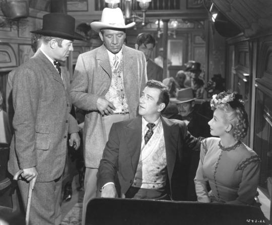 Ward Bond, Roger Keen, Vera Hruba Ralston, John Wayne