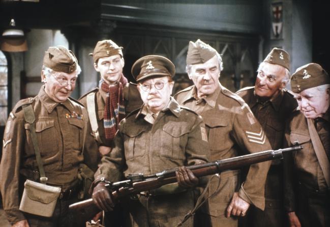 Clive Dunn, Ian Lavender, Arthur Lowe, John Le Mesurier, John Laurie, Arnold Ridley