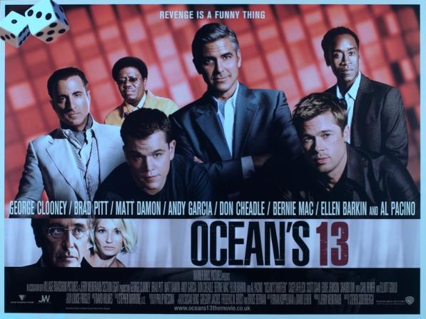George Clooney, Brad Pitt, Matt Damon, Don Cheadle, Bernie Mac, Ellen Barkin, Al Pacino