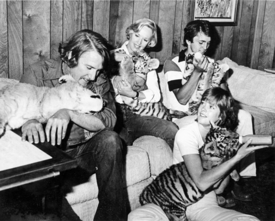 Tippi Hedren, Noel Marshall, Melanie Griffith, Jerry Marshall