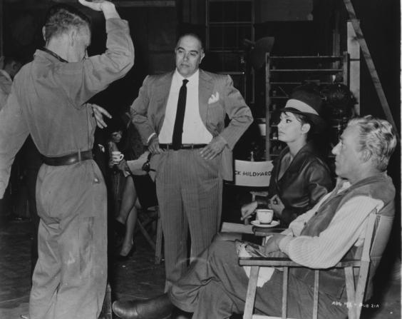 Carlo Ponti, Anthony Asquith, Sophia Loren, Vittorio De Sica
