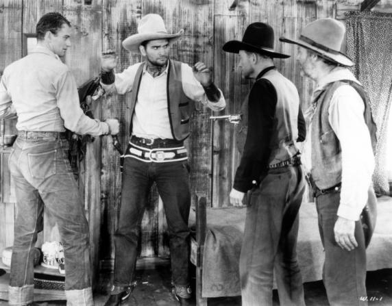 John Wayne, Yakima Canutt, George 'Gabby' Hayes