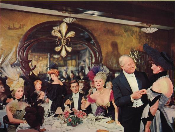 Louis Jourdan, Eva Gabor, Maurice Chevalier