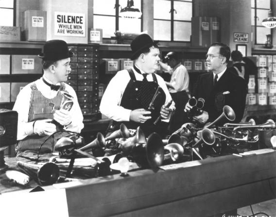 Stan Laurel, Oliver Hardy, Harry Hayden