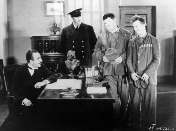 Stan Laurel, Oliver Hardy, Wilfred Lucas