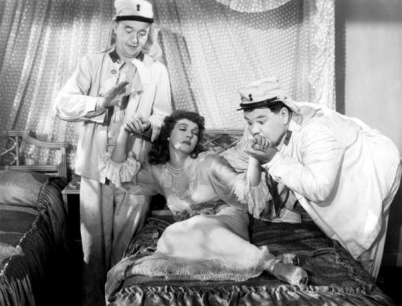 Stan Laurel, Oliver Hardy, Jean Parker