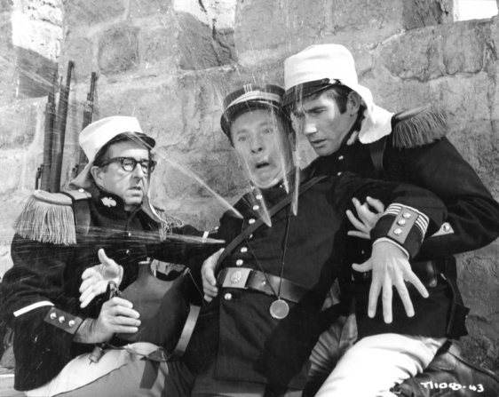 Phil Silvers, Kenneth Williams, Jim Dale