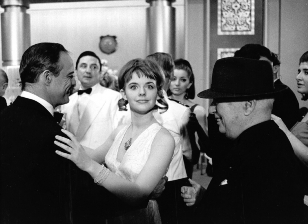Marlon Brando, Angela Scoular, Charles Chaplin