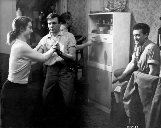 Shirley Anne Field, Albert Finney, Frank Pettitt, Norman Rossington