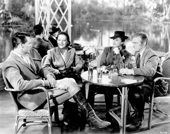 Cary Grant, Lenore Ulric, Ingrid Bergman, Claude Rains