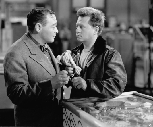 Peter Lorre, Mickey Rooney