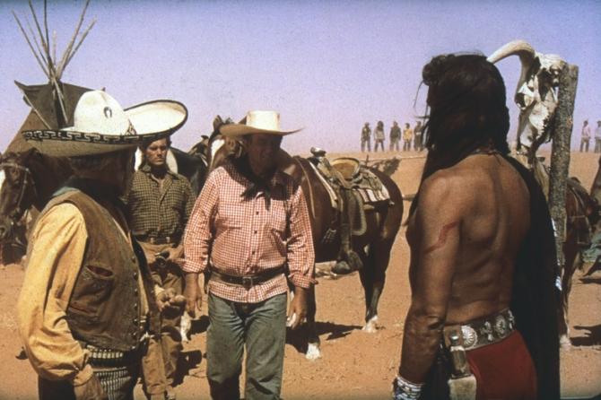 Jeffrey Hunter, John Wayne, Antonio Moreno, Henry Brandon