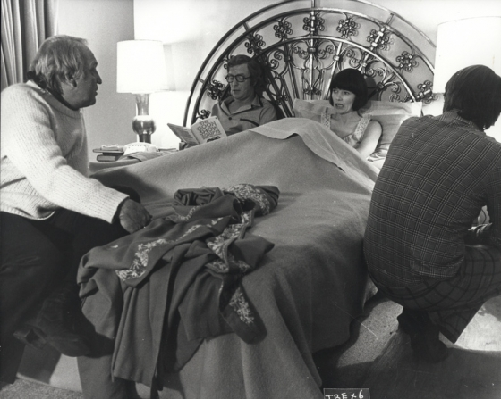 Joseph Losey, Michael Caine, Glenda Jackson