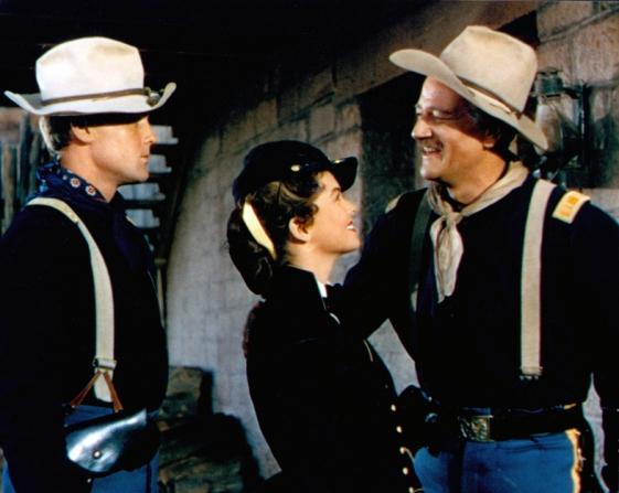John Agar, Joanne Dru, John Wayne