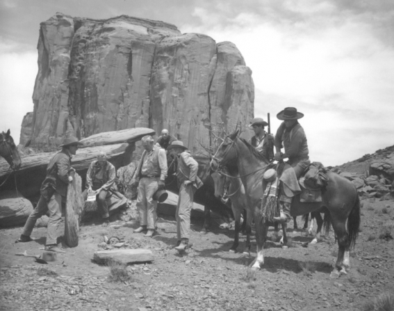 Ward Bond, Hank Worden, Jeffrey Hunter, John Wayne