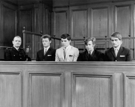 Dudley Sutton, Jess Conrad, Ronald Lacey, Tony Garnett