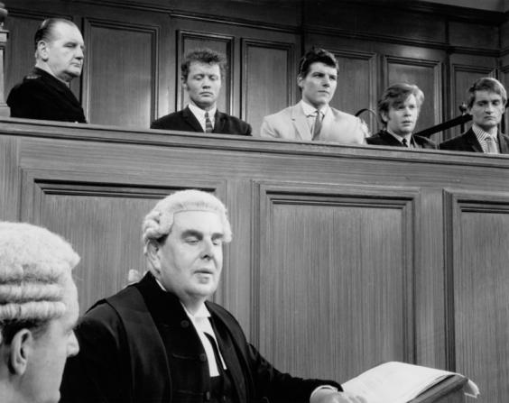 Robert Morley, Dudley Sutton, Jess Conrad, Ronald Lacey, Tony Garnett