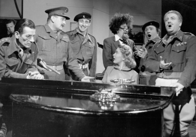Spike Milligan, Michael Bentine, Carole Carr, Harry Secombe, Peter Sellers