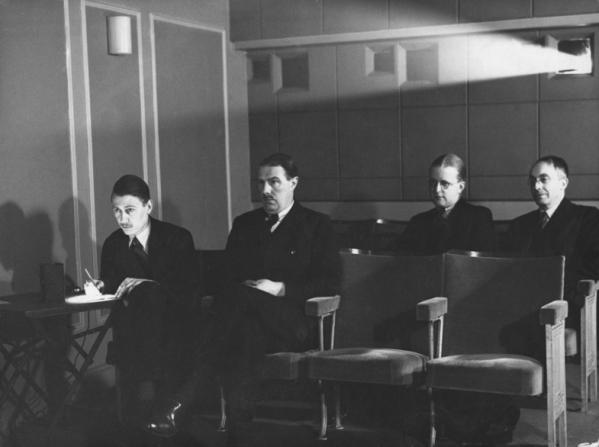 Ernest Lindgren, Oliver Bell, Thorold Dickinson, H.D. Waley